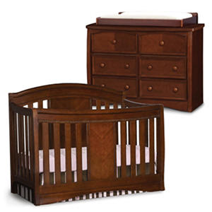 Simmons Kids Elite 3-Piece Nursery Set, Espresso Truffle