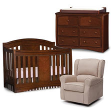 Simmons Kids Elite 4-Piece Nursery Set, Espresso Truffle