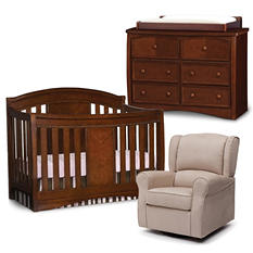 Simmons Kids Elite 4-Piece Nursery Set - Espresso Truffle