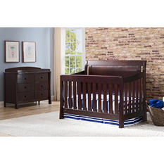 Simmons Kids Madisson 3-Piece Nursery Set - Black Espresso