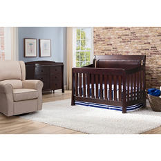 Simmons Kids Madisson 4-Piece Nursery Set, Black Espresso