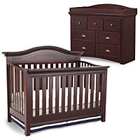 Simmons Kids Augusta 3-Piece Nursery Set, Molasses