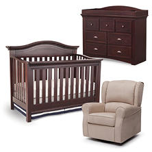Simmons Kids Augusta 4-Piece Nursery Set, Molasses