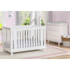 Delta Children Ava 3-Piece Nursery Set - White