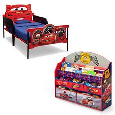 Delta Children Cars 2-Piece Twin Bedroom Set