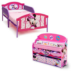 Delta Children Minnie Mouse 2-Piece Twin Bedroom Set