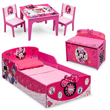 children minnie mouse deluxe 3 piece toddler bedroom set sam 39 s club