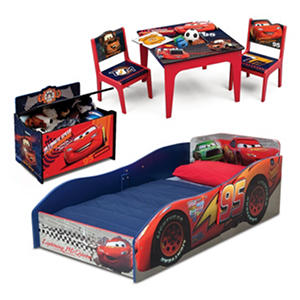 Delta Children Cars 3-Piece Deluxe Toddler Bedroom Set