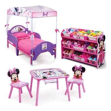 Delta Children Minnie Mouse 3 Piece Toddler Canopy Bedroom Set Sam 39 S Club