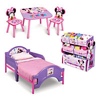 Delta Children Minnie Mouse 3-Piece Toddler Bedroom Set