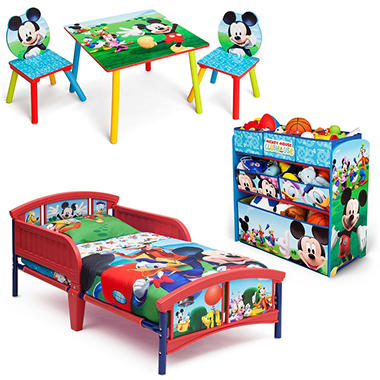Delta children mickey mouse 3 piece toddler bedroom set sam 39 s club - Mickey mouse bedroom furniture ...
