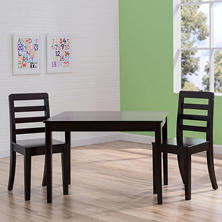Delta Children Table and Chairs, 3-Piece Set, Dark Chocolate