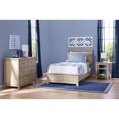 Delta Children Homestead Room-in-a-Box 3-Piece Bedroom Furniture Set, Rustic Whitewash