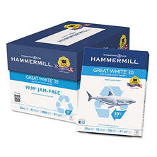 Hammermill - Great White Recycled Copy Paper, 92 Bright, 8-1/2 x 11 - 200,000 Sheets/Pallet