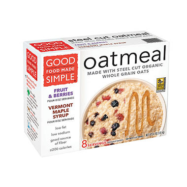 Good Food Made Simple Steel Cut Oatmeal Variety Pack (8 ct.)
