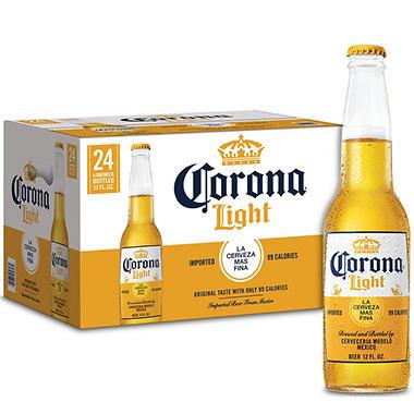 Corona Light  (12 fl. oz. bottles, 24 pk.)
