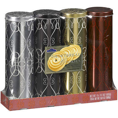 Shortbread Cookie Tins - 4 pk.