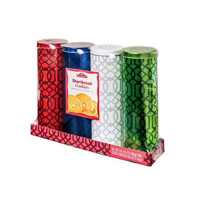 Stockmeyer Shortbread Cookie Tins - 14.1 oz. - 4 pk.