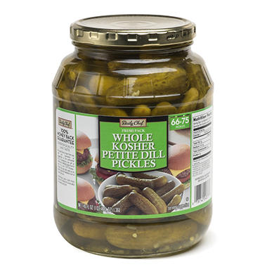 Daily Chef Fresh Pack Whole Kosher Petite Dill Pickes (46oz.)