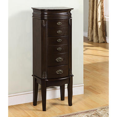 Powell Italian Influenced Transitional Jewelry Armoire - Espresso