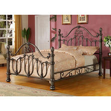 Raleigh Deluxe Metal Queen Bed with Decorative Side Rails