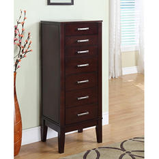 Contemporary Jewelry Armoire Wooden Furniture