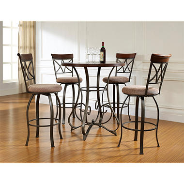 Hamilton Pub Table Amp Swivel Bar Stools 5 Piece Set Sam S
