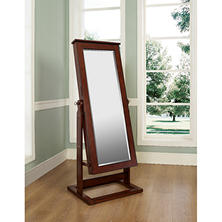 Cheval Jewelry Storage Mirror, Walnut