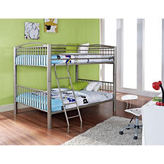 Heavy Metal Full over Full Bunk Bed - Pewter