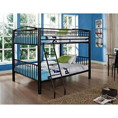 Heavy Metal Full over Full Bunk Bed - Black