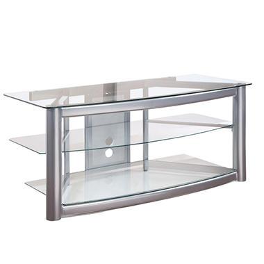 Matte Silver Plasma Stand