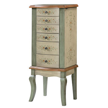 english garden hand painted jewelry armoire sam 39 s club