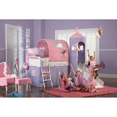 Princess Castle Tent Loft Bed with Slide