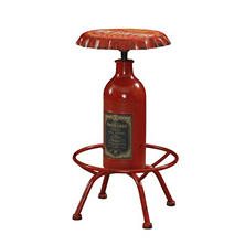 Vintage Bottle-Cap Bar Stool