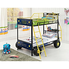 Dune Buggy Twin over Twin Bunk Bed - Blue
