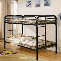 Black Twin over Twin Bunk Bed