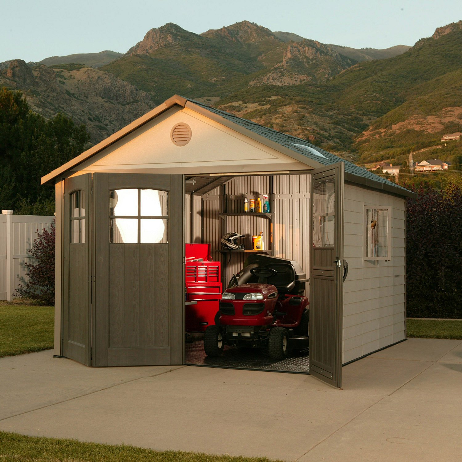 Lifetime x Resin Shed Reviews Lifetime Outdoor Storage Shed