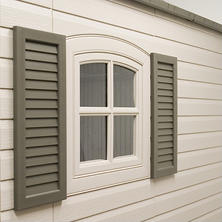 Lifetime Decorative Shutters - Dark Brown