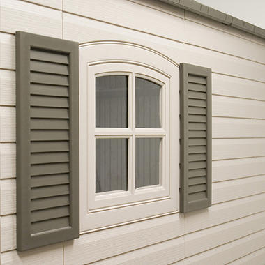Lifetime� Decorative Shutters - Dark Brown