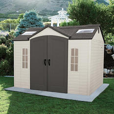 Lifetime 10' × 8' Outdoor Storage Shed (Various Assembly Options)