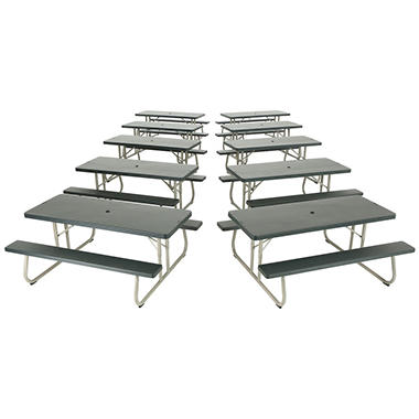 Lifetime  6' Folding Picnic Tables - 10 Pk