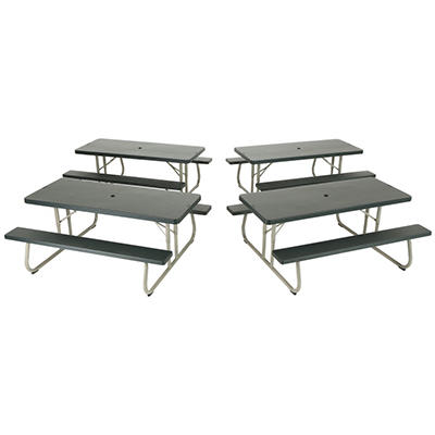 Lifetime 6' Folding Picnic Table - Putty - 4 pack