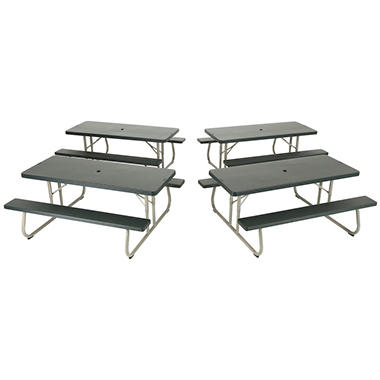 Lifetime 6' Folding Picnic Tables - 4 Pk