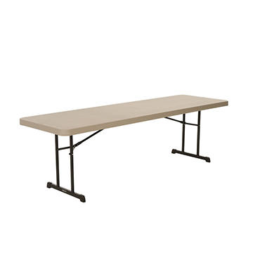 OFFLINE Lifetime 8' Professional Grade Folding Table, Putty