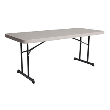 OFFLINE Lifetime 6' Professional Grade Folding Table, Putty - 4 pack