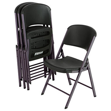 offline lifetime commercial grade folding chair black