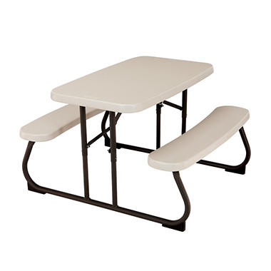 "Lifetime 32.5"" Kids Folding Picnic Table - Almond"