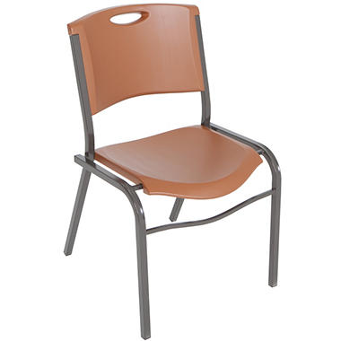 Lifetime - Stacking Chairs, Brown - 14 Pack