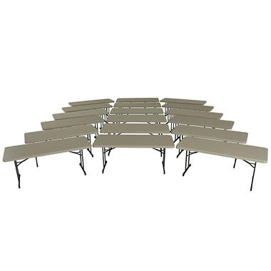 Lifetime 6' Professional Grade Folding Table - Putty - 18 pack