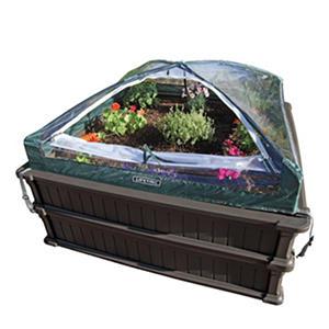 Lifetime Raised Garden Kit (2 beds, 1 enclosure)